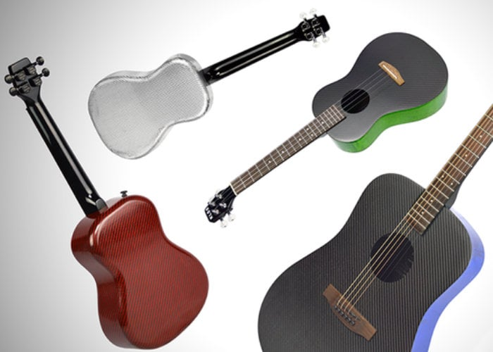 KLOS Carbon Fiber ukuleles and guitars