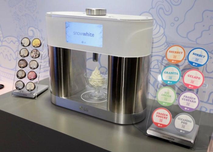 LG SnowWhite ice cream machine