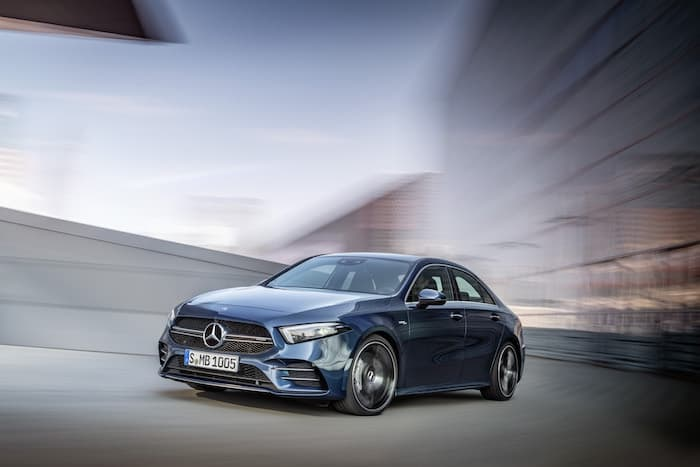 Mercedes AMG A 35 4MATIC Saloon appears on video