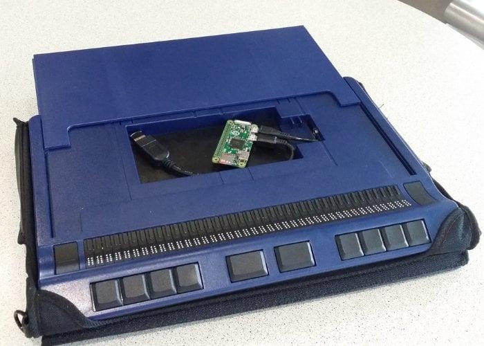 Raspberry Pi braille keyboard and display