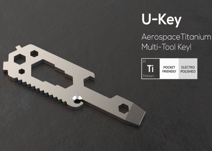 U-Key aerospace titanium multitool