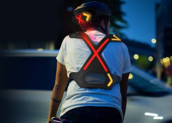 WAYV harness and helmet safety system for cyclists