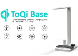 Wireless charging desk lamp