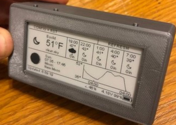 ePaper Weather Station with 3D printed case