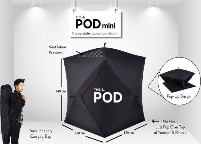 pop-up soundbooth