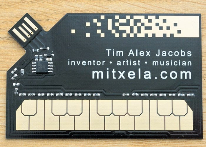 stylophone MIDI controller business card