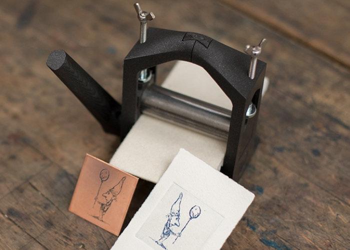 3D printed printmaking press