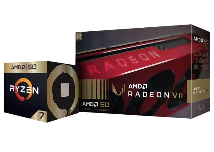 AMD 50th Anniversary Ryzen and Radeon graphics cards