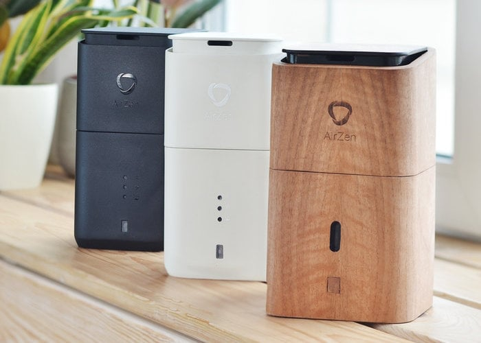 AirZen is a personal humidifier, purifier, Ioniser, aroma diffuser and air quality controller