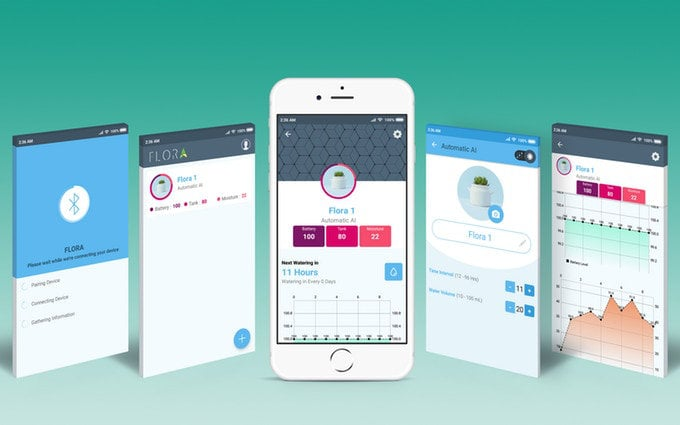 Flora smartphone application