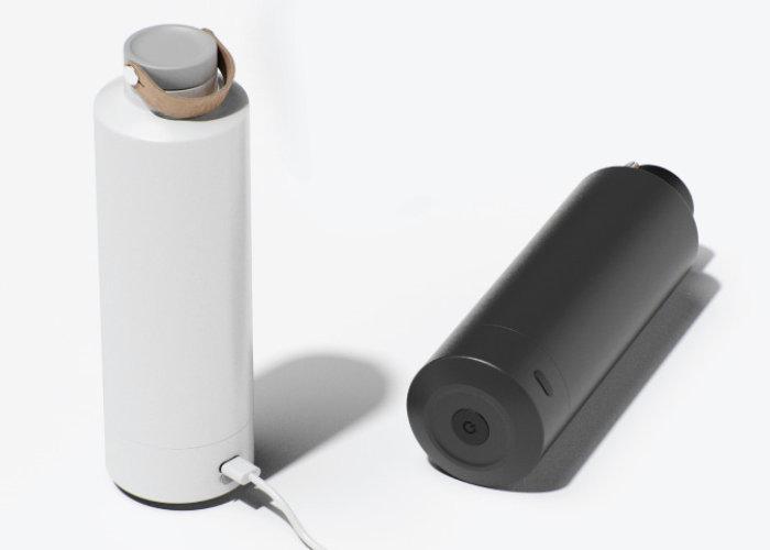 Luma self-cleaning water bottle