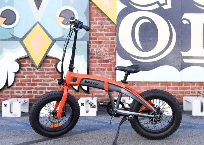 Maxfoot folding electric bike with advanced six-bar linkage rear suspension