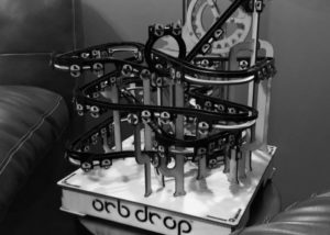 Orb drop marble run track