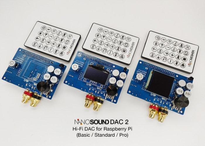 Raspberry Pi audio DAC board NanoSound DAC 2
