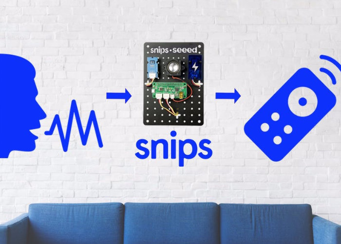 Snips infrared voice controller