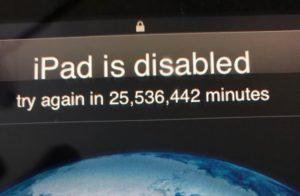 locked iPad