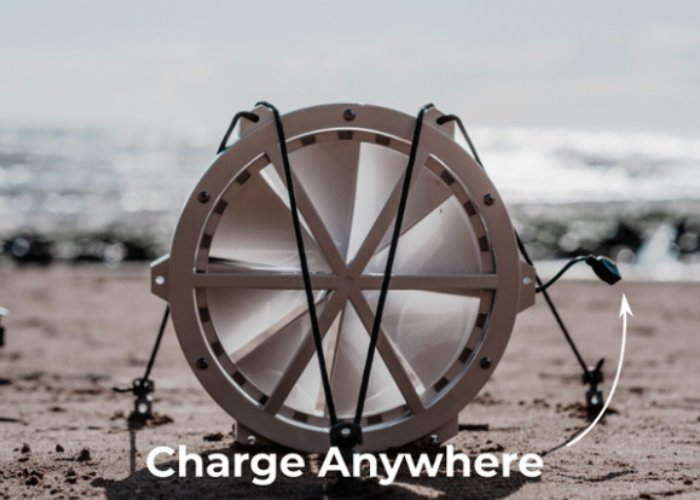 GIGA portable wind turbine offers mobile charging away from the gird