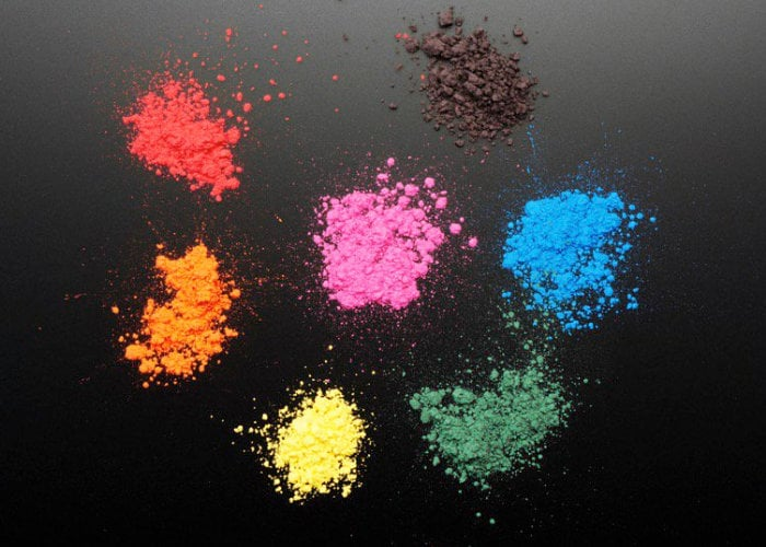 Thermochromic pigments change colour with heat