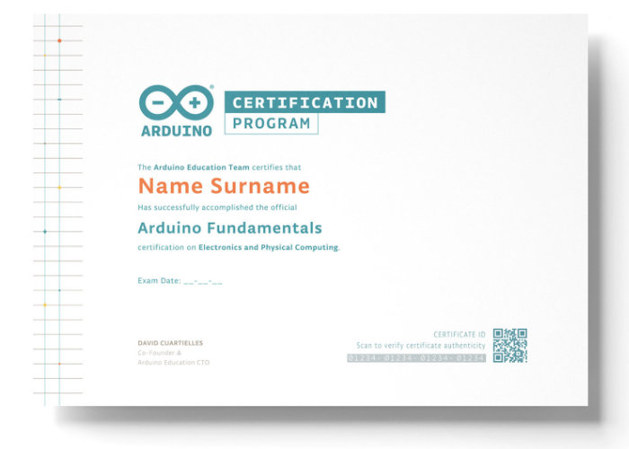 Arduino Certification Program