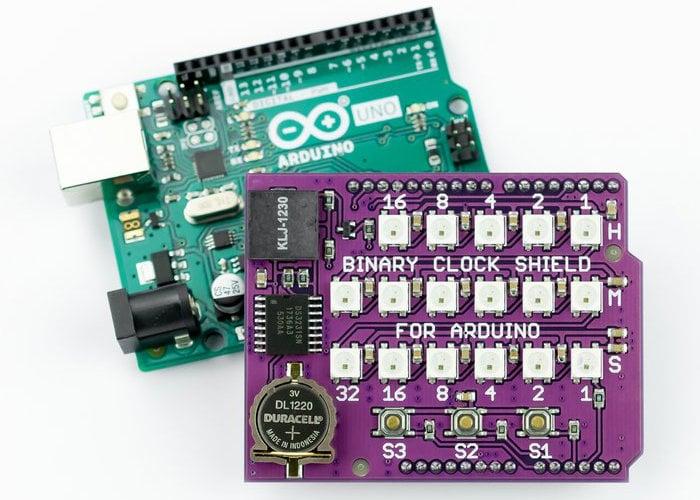 Arduino binary clock shield
