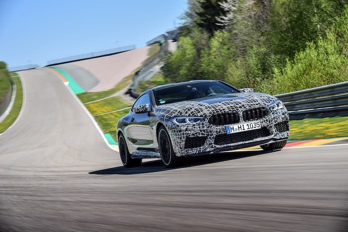 BMW M8 gets new control system