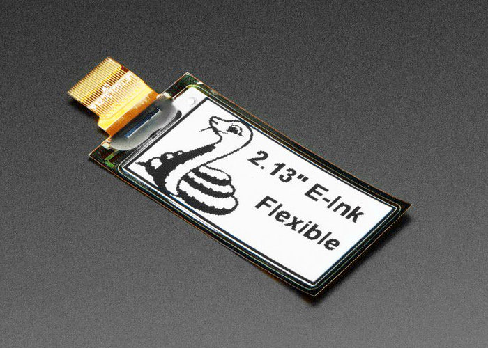Flexible monochrome eInk display