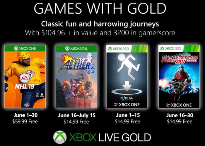 Free Xbox games with Gold for June 2019