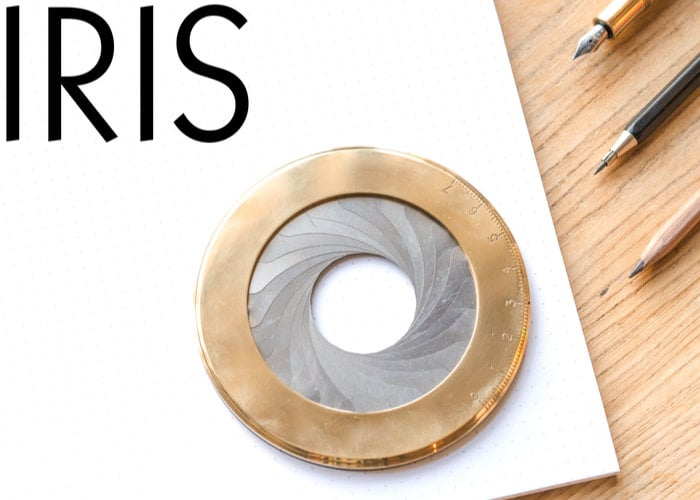 Iris drawing tools combines art and photography