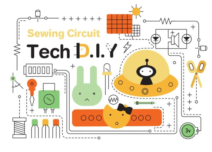 Learn electronics through sewing