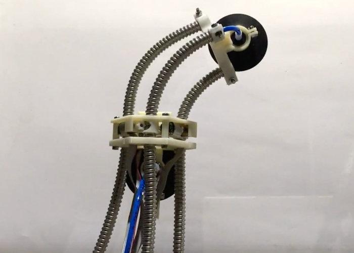 Leech Robot moves using suckers