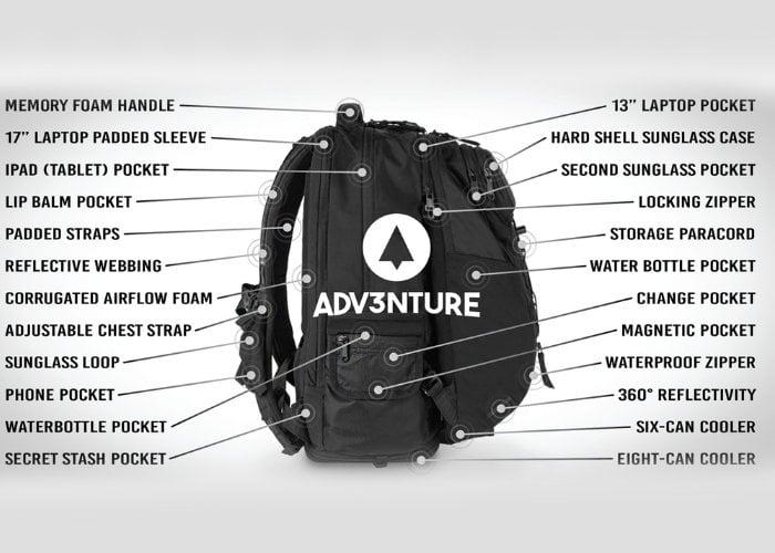 Modular Adv3nture backpack