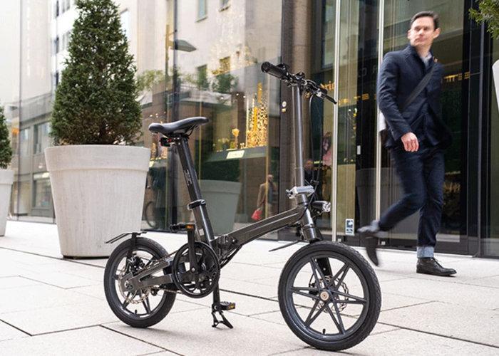 One electric folding bike