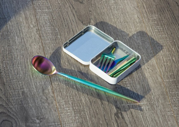 Eco-friendly pocket cutlery and chopsticks remove the need for plastic utensils
