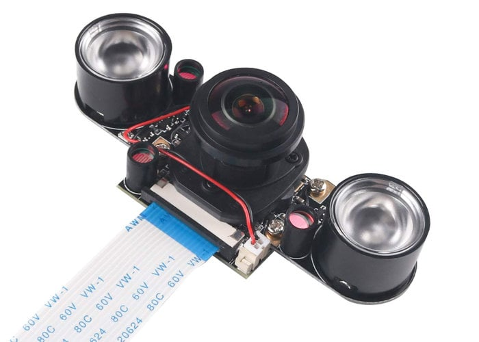 Raspberry Pi Camera IR wide angle waterproof housing