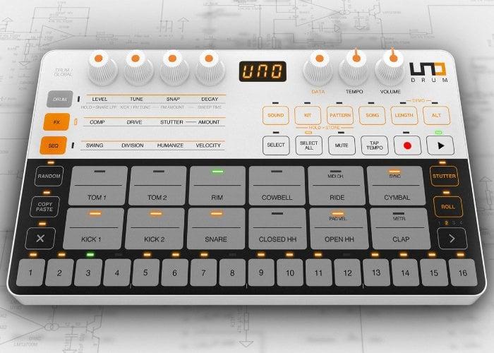ik multimedia uno drum drum machine 250 geeky gadgets. Black Bedroom Furniture Sets. Home Design Ideas