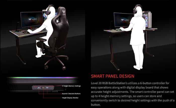adjustable PC desk