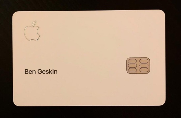 This is what the Apple Card credit card looks like