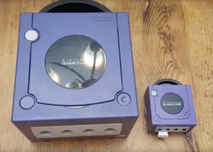 miniature Nintendo GameCube