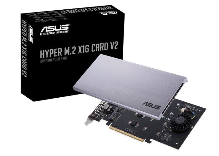 ASUS Hyper M.2 x16 V2 NVMe RAID card