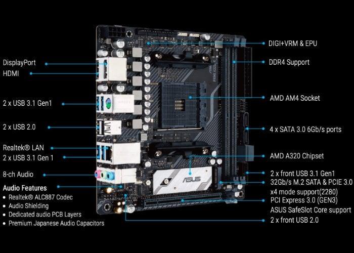ASUS Prime A320I-K Mini-ITX motherboard