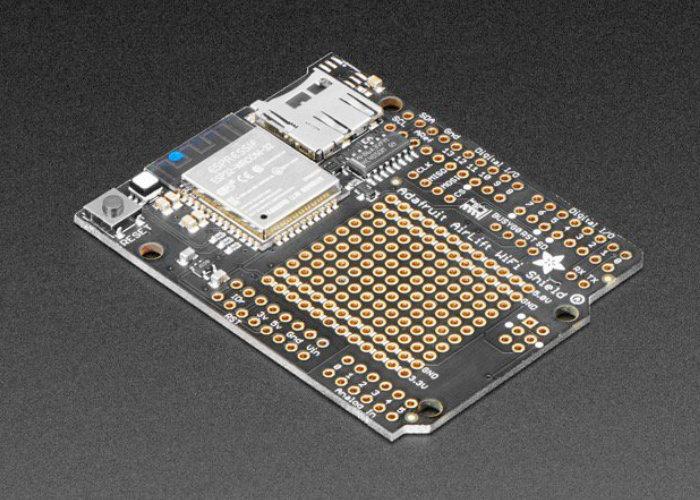 Arduino AirLift Shield ESP32 WiFi co-processor arrives at Adafruit