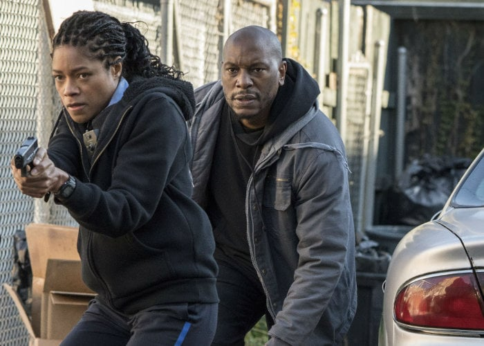 Black and Blue action thriller movie stars Naomie Harris and Tyrese Gibson