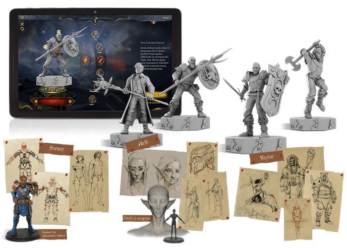 Custom designed gaming miniatures