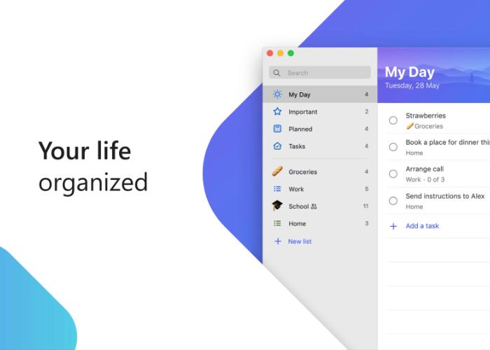Microsoft To-Do app Mac