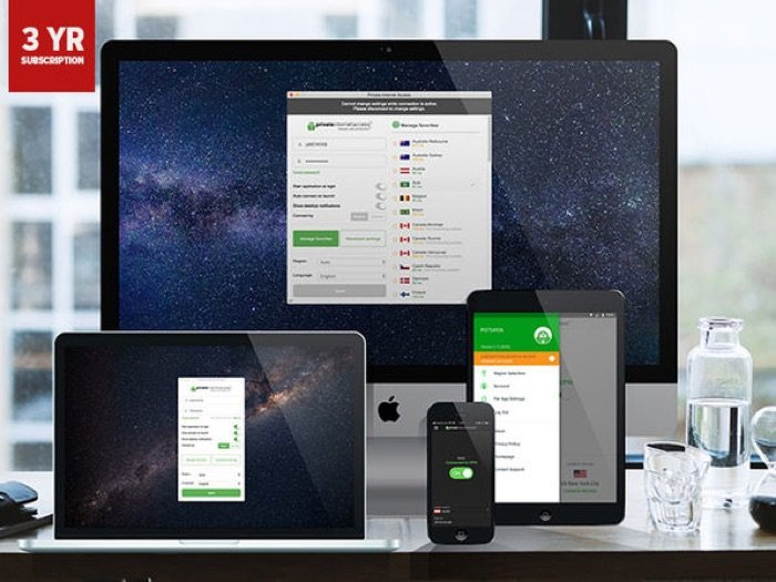 Private Internet Access VPN: 3-Yr Subscription