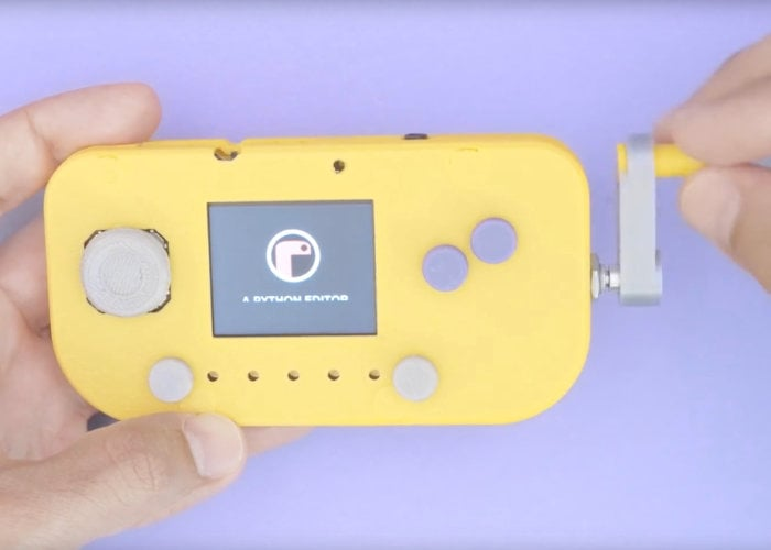 PyGamer handheld crank gaming console