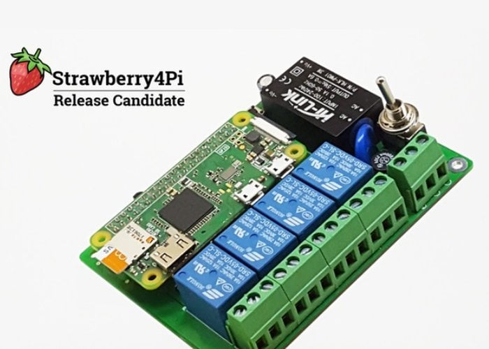 Raspberry Pi Strawberry4Pi 2 Internet of Things control system