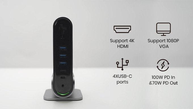 TitanHub 4K, USB-C laptop dock