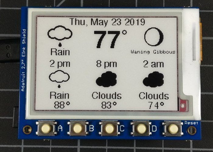 eInk DIY weather station