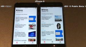 iOS 13 Public Beta 1 vs iOS 12.3.1